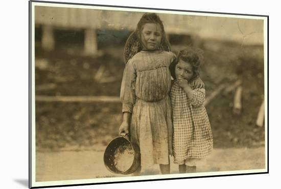 Maud and Grade Daly-Lewis Wickes Hine-Mounted Photographic Print