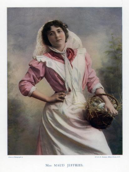 Maud Jeffries, American Actress, 1901-W&d Downey-Giclee Print