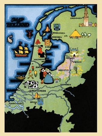 Kids Map Of Holland