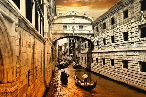 Amazing Venice on Sunset. Bridge of Sights by Maugli-l