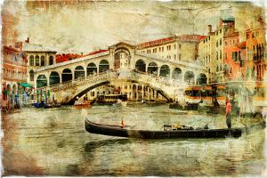 Amazing Venice,Rialto Bridge - Artwork In Painting Style by Maugli-l