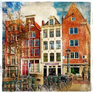 Amsterdam - Artwork In Painting Style by Maugli-l