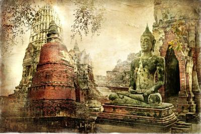 Ancient Cities Of Thailand - Artwork In Painting Style