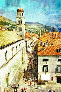 Ancient Dubrovnik - Artistic Picture In Painting Style by Maugli-l