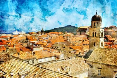 Ancient Dubrovnik -Artwork In Painting Style by Maugli-l