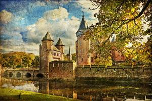 Autumn Castle - Artwork In Painting Style by Maugli-l