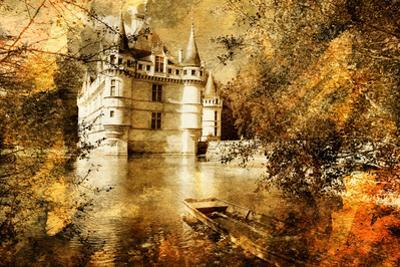 Azey-Le-Redeau Castle - Artwork In Painting Style by Maugli-l