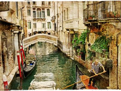 Beautiful Channels of Venice- Retro Styled Picture by Maugli-l