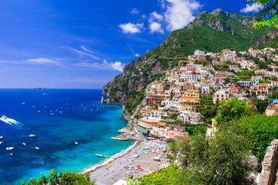 Beautiful Coastal Towns of Italy - Scenic Positano in Amalfi Coast by Maugli-l