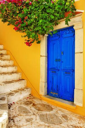 Colorful Greece Series -Symi Island Streets by Maugli-l