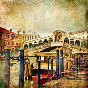 Colors Of Romantic Venice- Painting Style Series - Rialto Bridge by Maugli-l