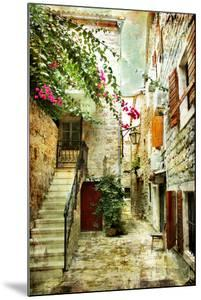 Courtyard Of Old Croatia - Picture In Painting Style by Maugli-l
