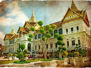Grand Palace - Bangkok - Retro Styled Picture by Maugli-l