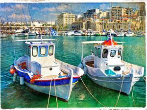 Greek Boats - Artistic Picture by Maugli-l