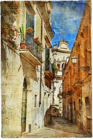Italian Old Town Streets- Lecce.Picture In Painting Style by Maugli-l