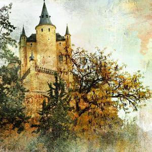 Medieval Castle Alcazar, Segovia,Spain- Picture In Painting Style by Maugli-l