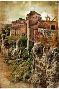Medieval Spain Artistic Vintage Series - Cuenca by Maugli-l