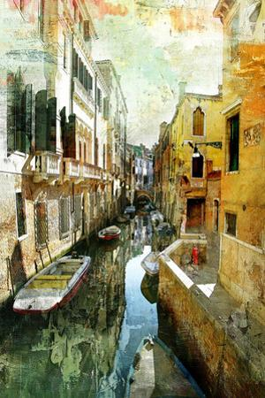 Pictorial Venetian Streets - Artwork In Painting Style by Maugli-l