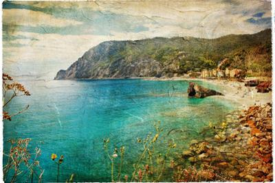 Picturesue Italian Coast - Artwork In Retro Painting Style by Maugli-l