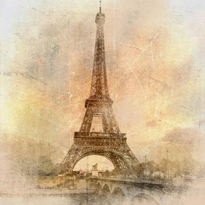 Retro Styled Background - Eiffel Tower by Maugli-l