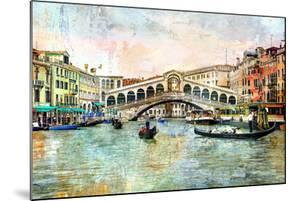 Rialto Bridge - Venetian Picture - Artwork In Painting Style by Maugli-l