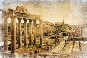 Roman Forums - Artistic Retro Styled Picture by Maugli-l