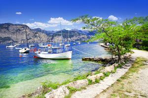 Scenery of Lago Di Garda- Beautiful Lake in Northen Italy by Maugli-l