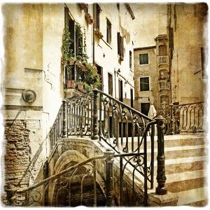 Streets Of Old Venice -Picture In Retro Style by Maugli-l