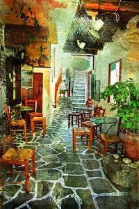 Streets With Tavernas (Pictorial Greece Series) by Maugli-l