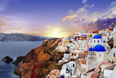 Sunset over Santorini by Maugli-l