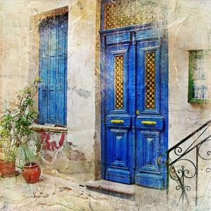 Traditional Greek Streets -Artwork In Painting Style by Maugli-l