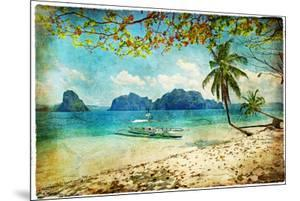Tropical Beach - Artwork In Painting Style by Maugli-l