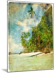Tropical Beach -Retro Styled Picture by Maugli-l
