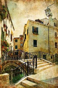 Venetian Channels - Artwork In Retro Style by Maugli-l