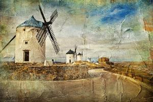 Windmills Of Spain - Picture In Painting Style by Maugli-l