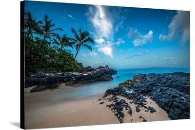 Maui'S Secret Cove Under Stars--Stretched Canvas Print