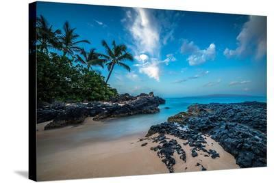 Maui'S Secret Cove Under Stars--Stretched Canvas Print