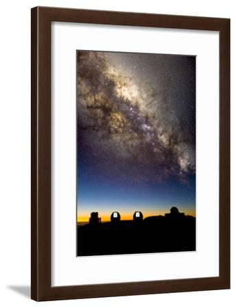 Mauna Kea Telescopes And Milky Way-David Nunuk-Framed Photographic Print