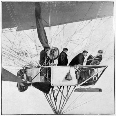 Maurice Berteaux, Minister for the War in the Lebaudy Airship, 3rd November 1905--Giclee Print