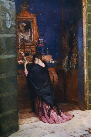 A Prayer to the Madonna, C1877-1912 by Maurice Bompard