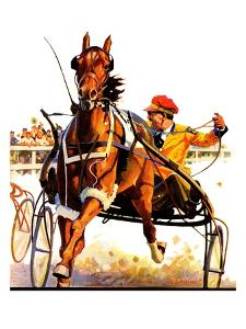 """""""Harness Race,""""August 17, 1935 by Maurice Bower"""