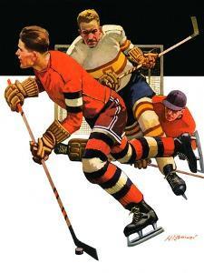 """Ice Hockey Match,""January 18, 1936 by Maurice Bower"