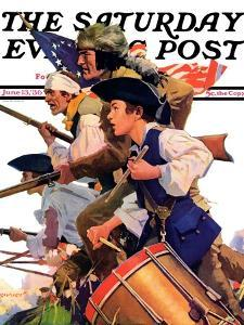 """""""Minutemen,"""" Saturday Evening Post Cover, June 13, 1936 by Maurice Bower"""