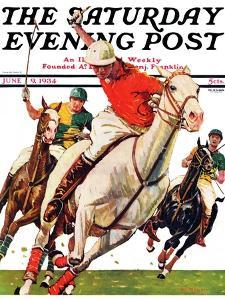 """""""Polo Match,"""" Saturday Evening Post Cover, June 9, 1934 by Maurice Bower"""