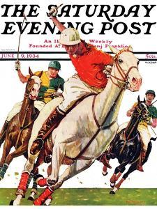 """Polo Match,"" Saturday Evening Post Cover, June 9, 1934 by Maurice Bower"