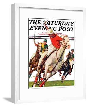 """Polo Match,"" Saturday Evening Post Cover, June 9, 1934"