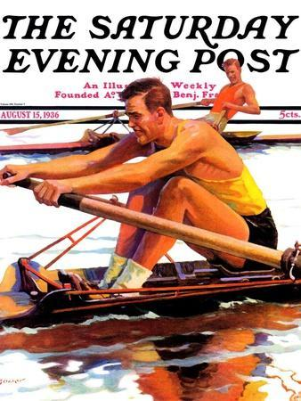 """Sculling Race,"" Saturday Evening Post Cover, August 15, 1936"