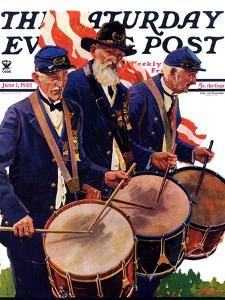 """""""War Veterans,"""" Saturday Evening Post Cover, June 1, 1935 by Maurice Bower"""