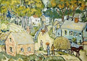 A New England Village by Maurice Brazil Prendergast