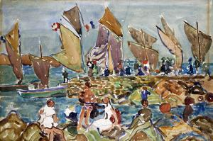 At the Beach by Maurice Brazil Prendergast